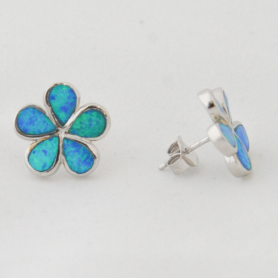 Σκουλαρίκι Λουλούδι Οπάλ