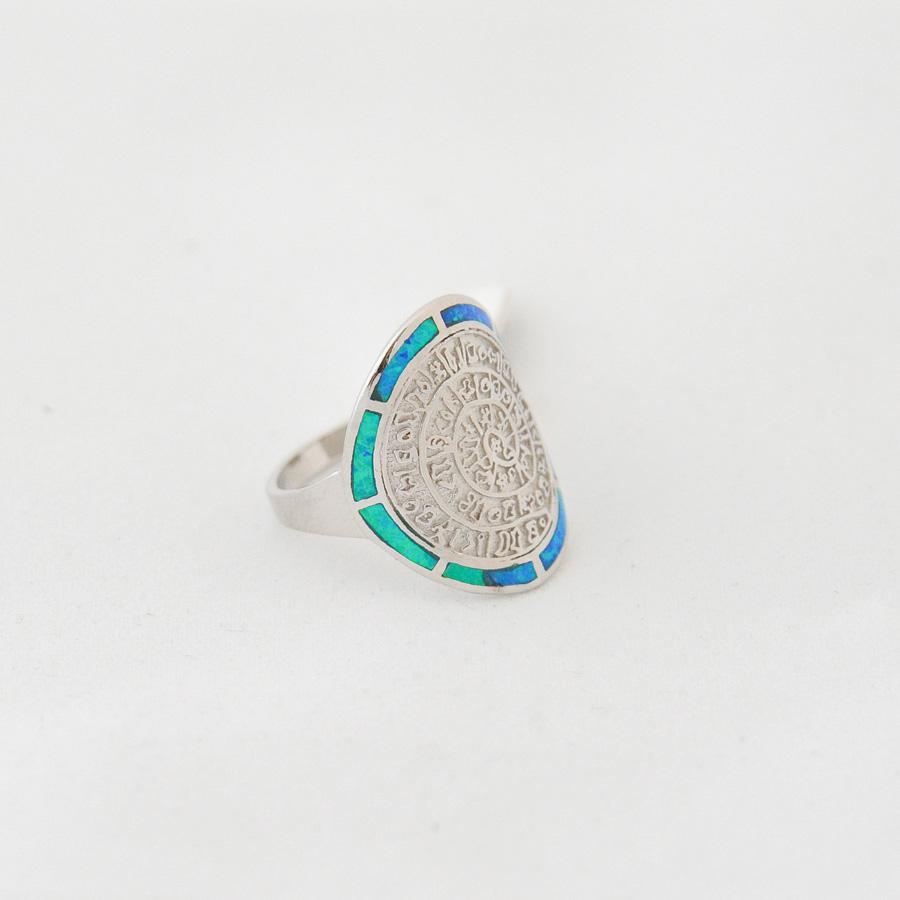 Δαχτυλίδι Δίσκος Φαιστού Οπάλ