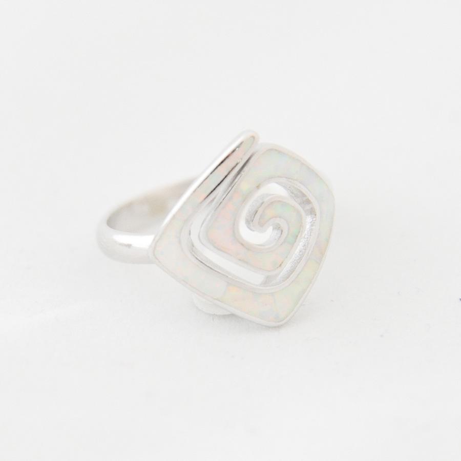 Δαχτυλίδι Μαίανδρος Μεγάλο Λευκό Οπάλ