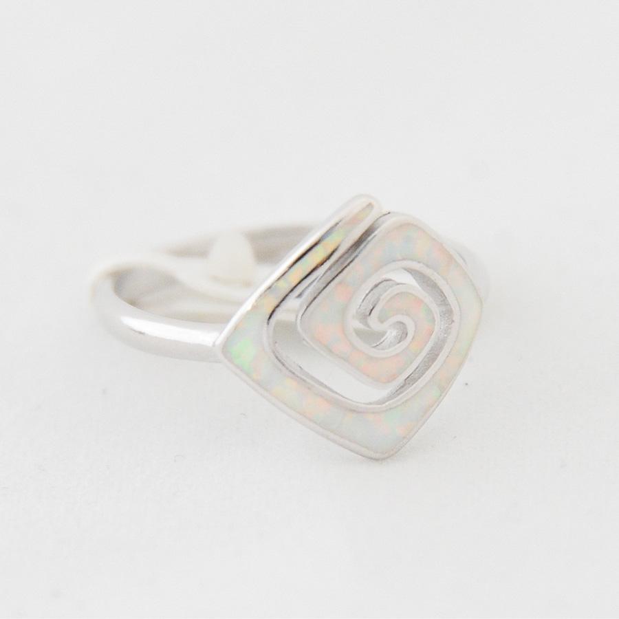 Δαχτυλίδι Μαίανδρος Μεσαίο Λευκό Οπάλ