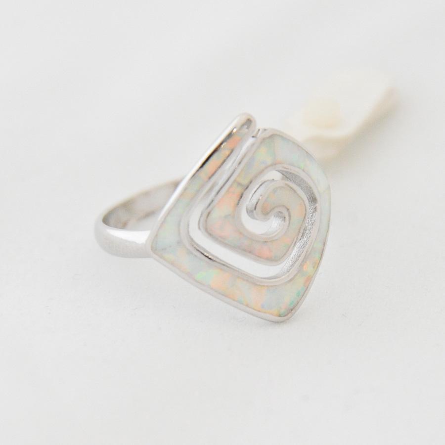 Δαχτυλίδι Μαίανδρος Μικρό Λευκό Οπάλ
