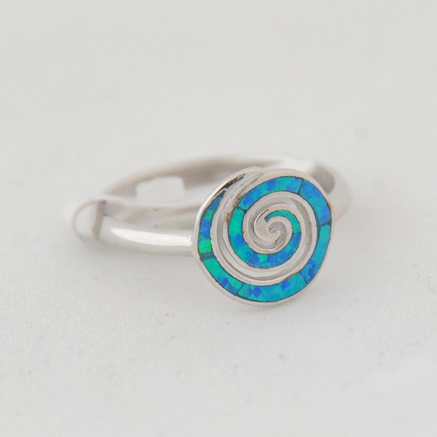 Δαχτυλίδι Σπείρα Μικρό Μπλε Οπάλ