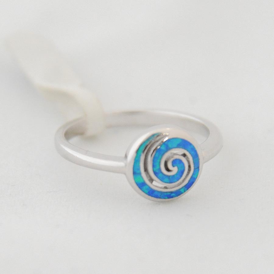 Δαχτυλίδι Σπείρα Μπλε Οπάλ