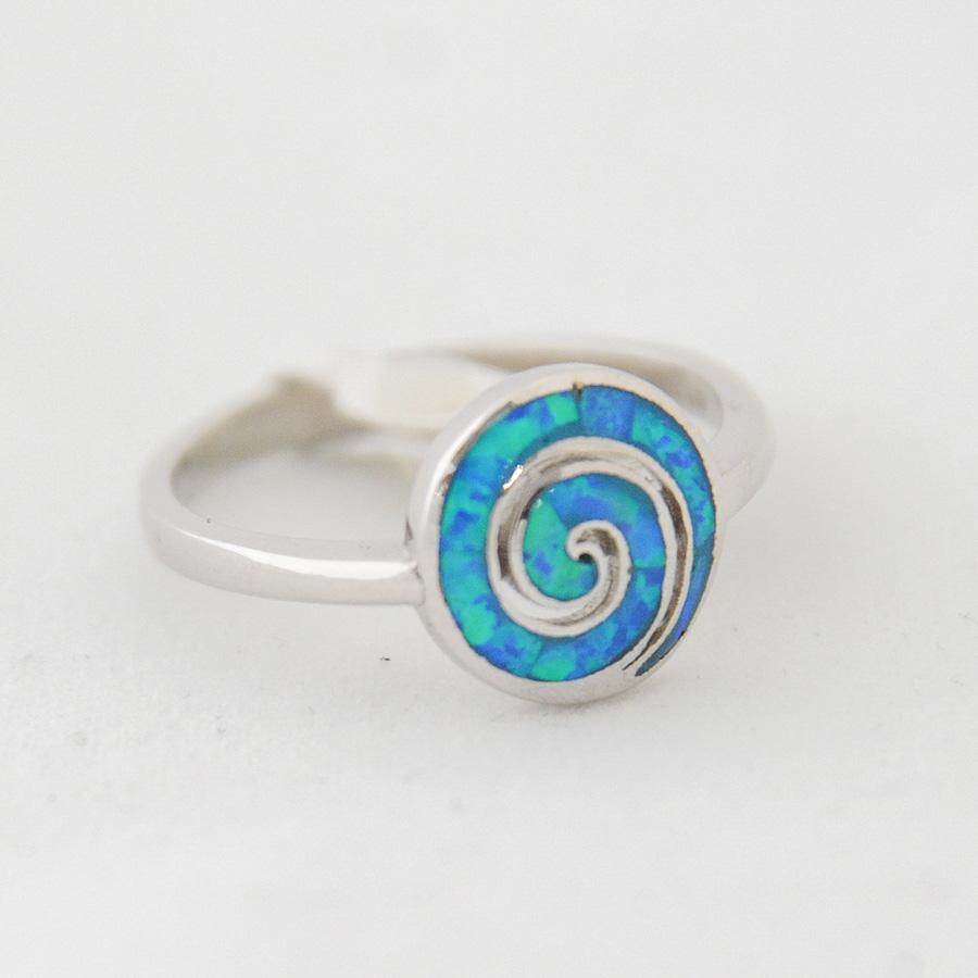 Δαχτυλίδι Σπείρα Μεσαίο Μπλε Οπάλ